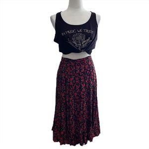 JBS Ltd.   Vintage Floral Raised Pleat Midi Skirt